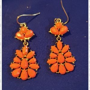 Coral colored earrings